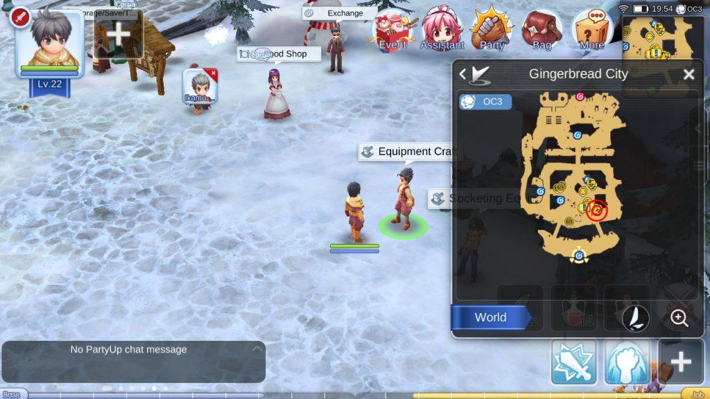 Gingerbread City equipment craft NPC
