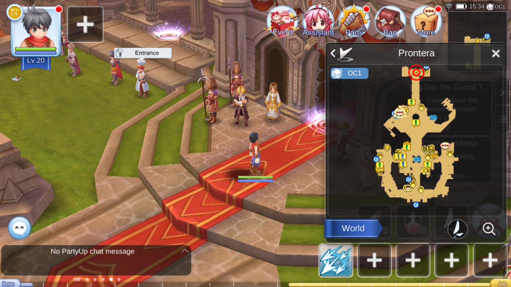 ragnarok mobile prontera north castle entrance