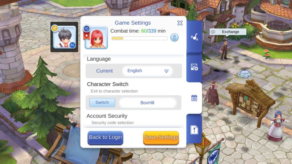 ragnarok mobile switch character