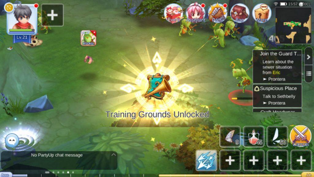 ragnarok mobile unlock training grounds