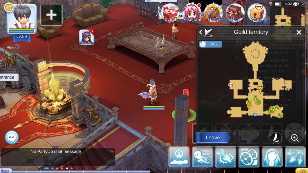 ragnarok mobile job breakthrough npc guild hall