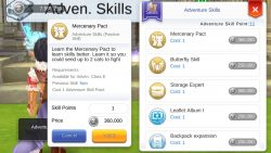 ragnarok mobile adventure skill mercenary pact