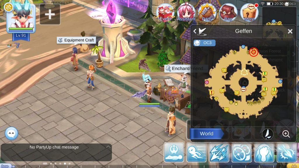 ragnarok mobile enchantment npc geffen