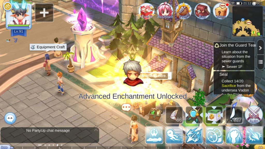 ragnarok mobile unlock advanced enchantment