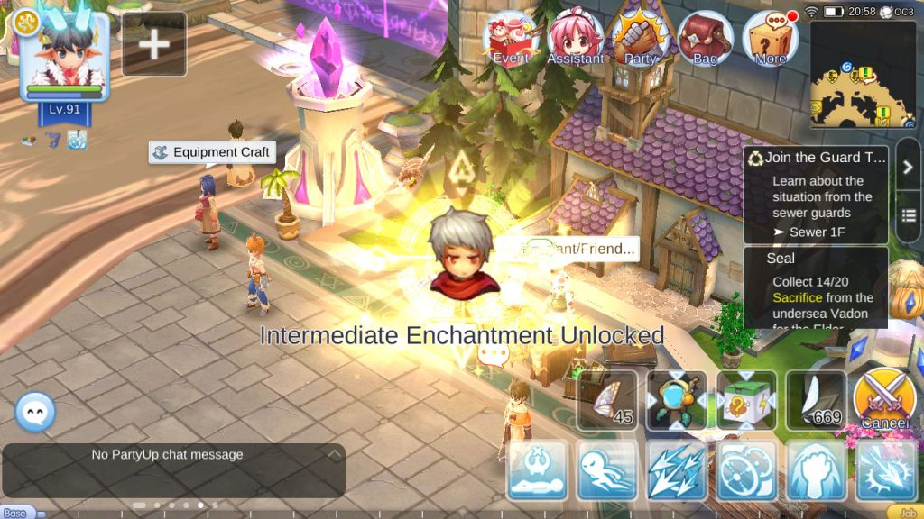 ragnarok mobile unlock intermediate enchantment