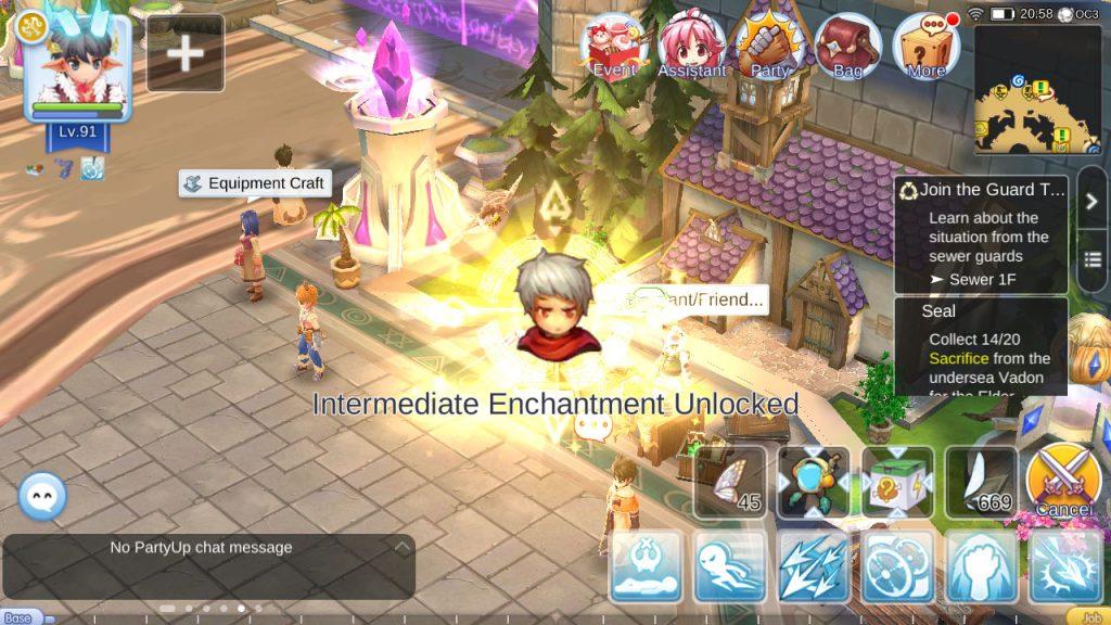 ragnarok mobile unlock intermediate enchantment