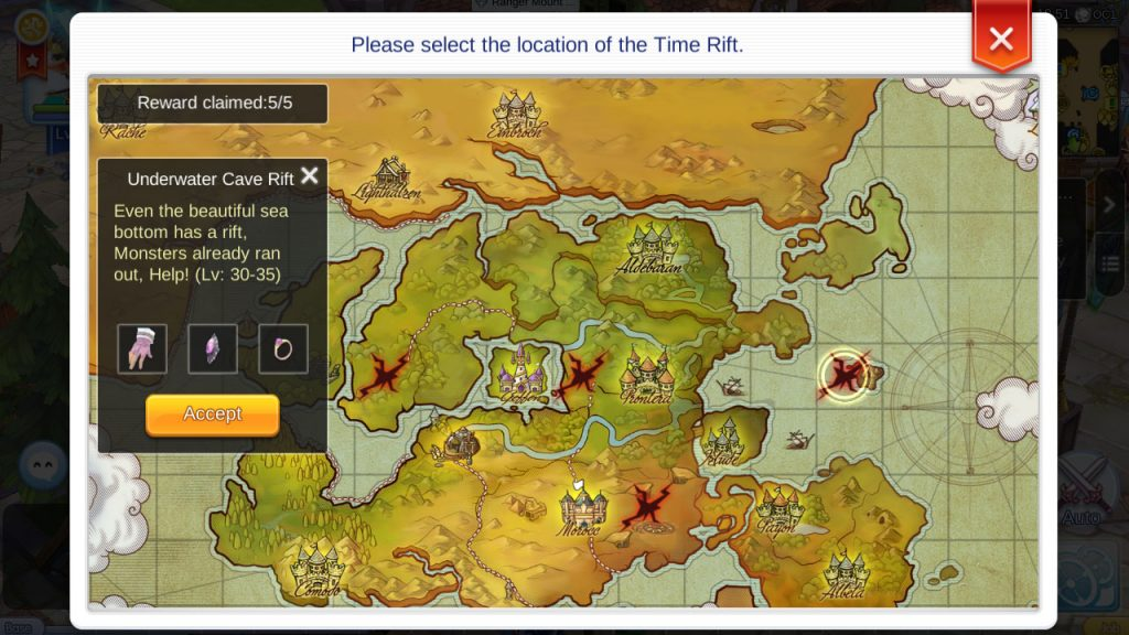 ragnarok mobile time rift locations