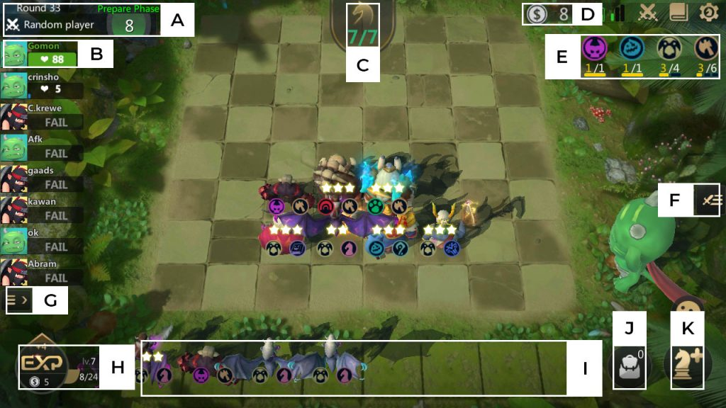 autochess game interface