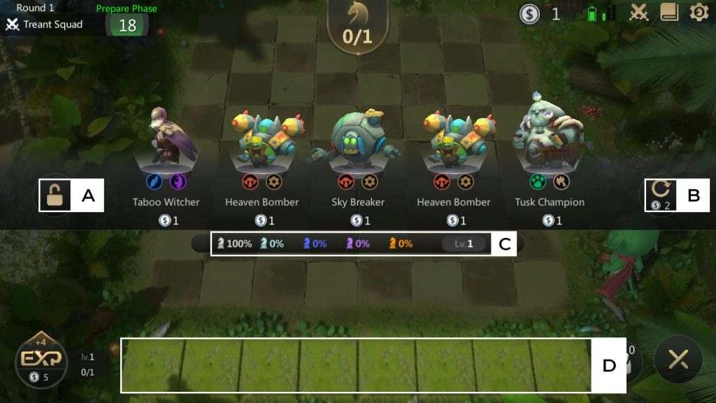 autochess piece shop