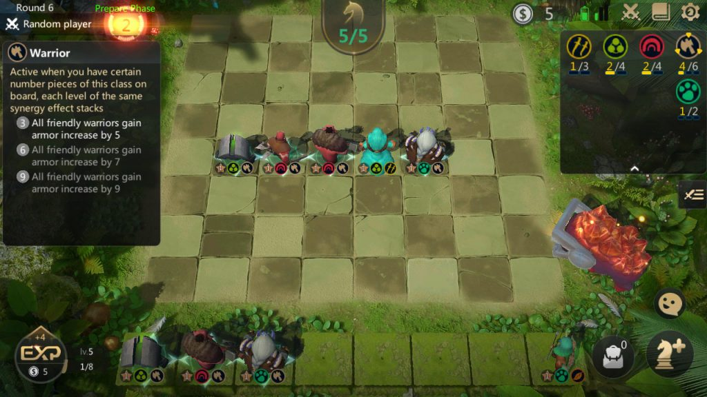 auto chess warrior build early