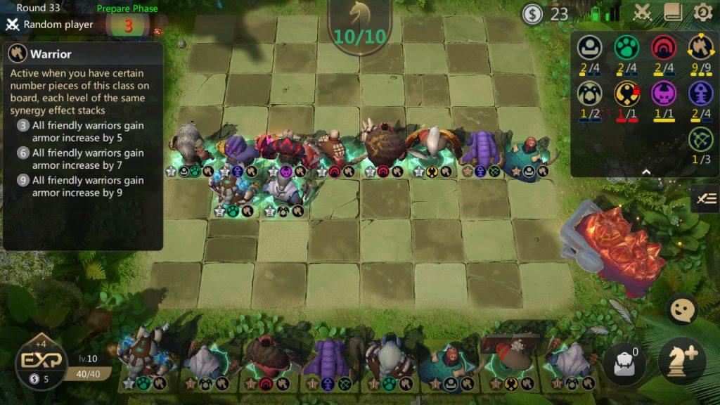 auto chess warrior build late