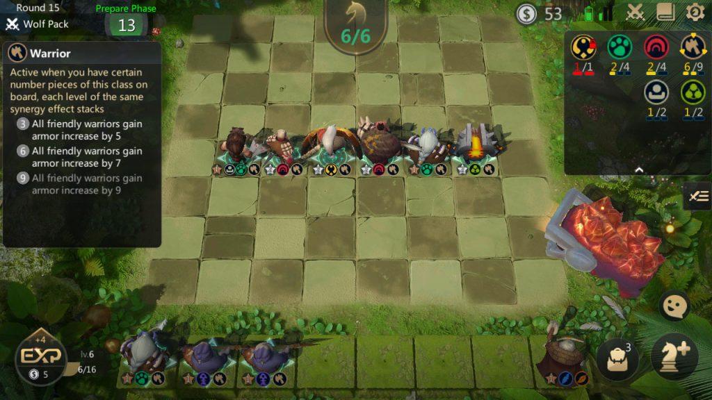 auto chess warrior build mid
